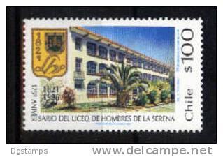 Chile YT1303 ** 175º Aniv. Liceo De Hombres De La Serena. Fachada. Escudo - Monumenti