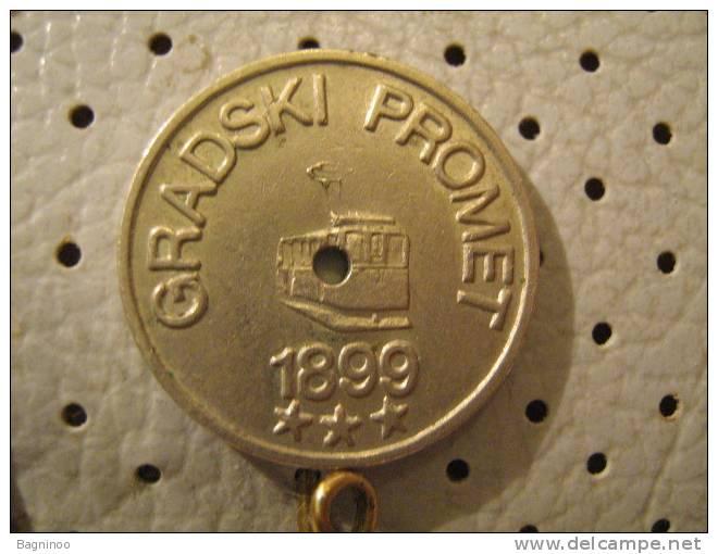 YUGOSLAVIA Train Token 1947 - Tokens & Medals