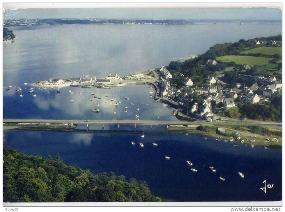 Près Locquenole---Baie De Morlaix--DOURDUFF--Vue Aérienne,la Rivière De Morlaix Et Le Petit Port De Dourduff, Cpm Jos - Guilvinec