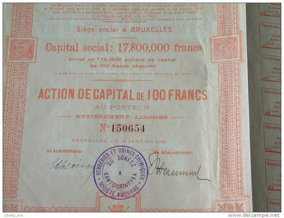 Verreries Et Usines Chmiques Du DONETZ à Santourinovka N° 150654 / 1920 ( Voir Photo Pour Detail )! - Chemin De Fer & Tramway