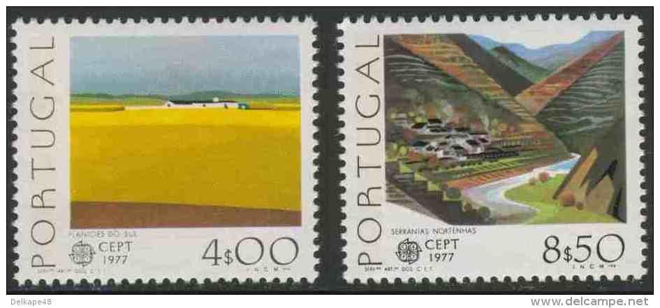 Portugal 1977 Mi 1360 /1 Y YT 134o /1 ** Southern Planes + Northern Terraced Mountains - Landscapes / Landschaften - Other