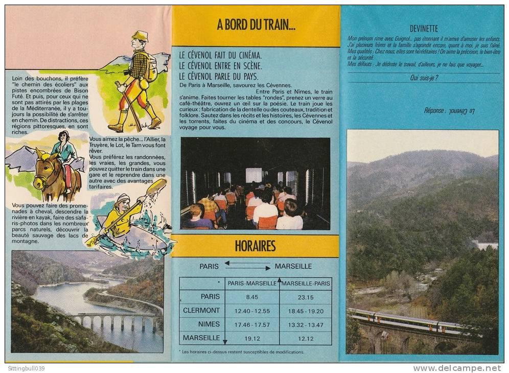 CLERC Serge. Dépliant Pub SNCF. Le Cévenol Parle Du Pays !. 1984 Avec Carte SNCF à L'intérieur. - Objets Publicitaires