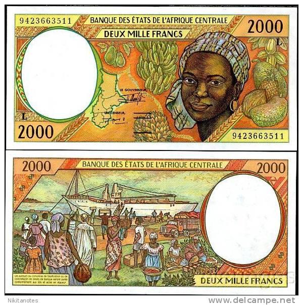 CENTRAL AFRICAN STATES GABON 2000 FR 403L 1993 SHIP UNC - Gabon