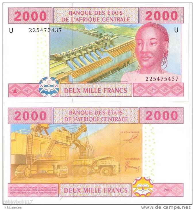 CAMEROUN 2000 Francs Banknote World Money Currency Unc - Camerun