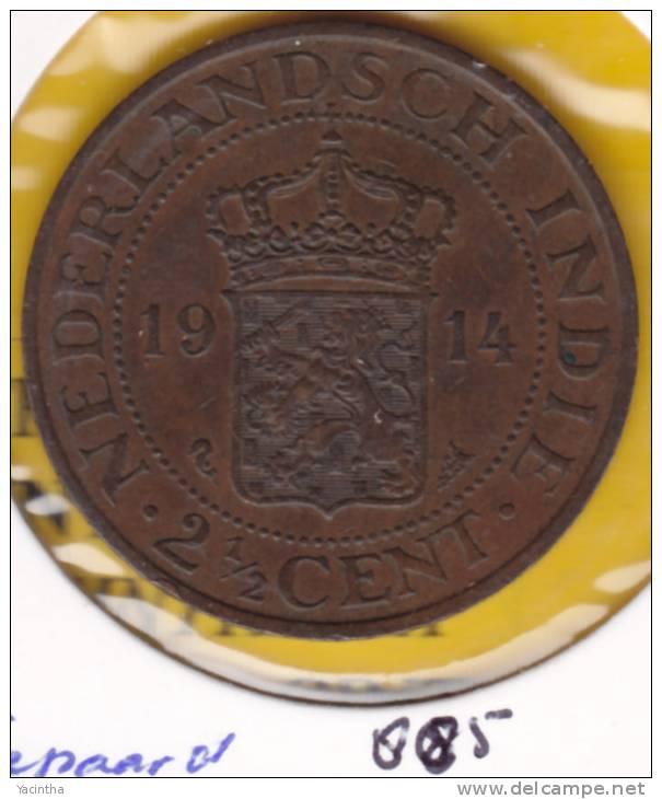 @Y@  Nederlands Antillen 2 1/2 Cent  1914    (885)  Zeepaard - Nederlandse Antillen