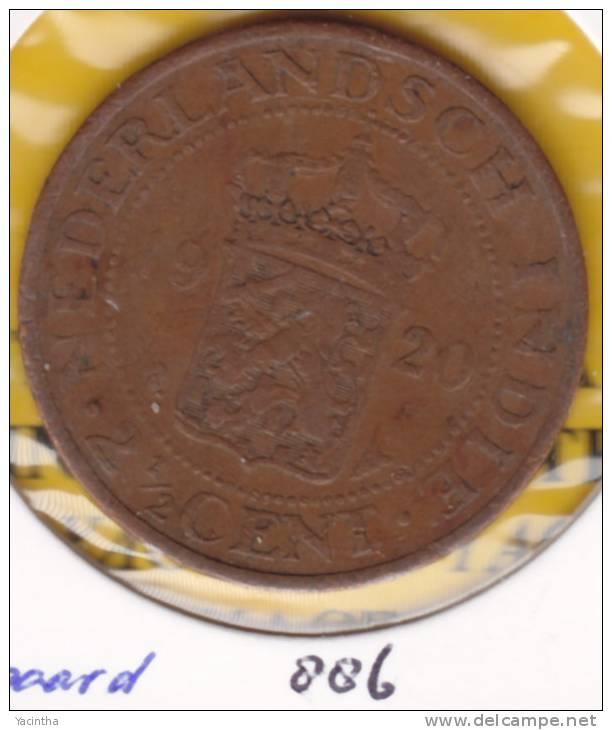 @Y@  Nederlands Antillen 2 1/2 Cent  1920    (886)  Zeepaard - Nederlandse Antillen