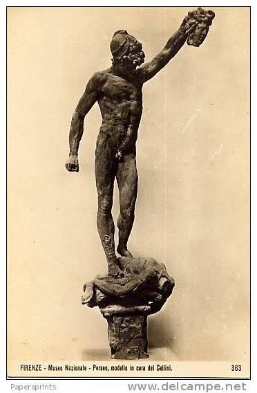 Firenze - Cartolina PERSEO (modello In Cera Del Cellini), Museo Nazionale Anni '40 - OTTIMA D65 - Sculture