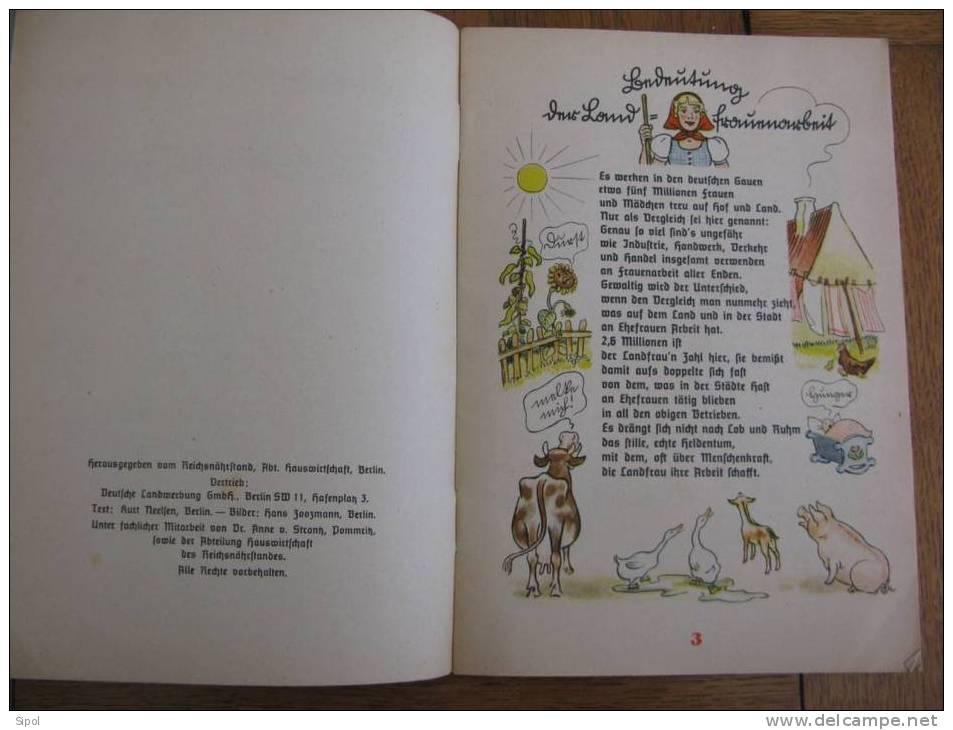 Titre En écriture Sütterlin Intranscriptible !!!Petit Guide De La Parfaite Ménagère 31 Pages Avec Illustrations Couleur - Livres Pour Enfants