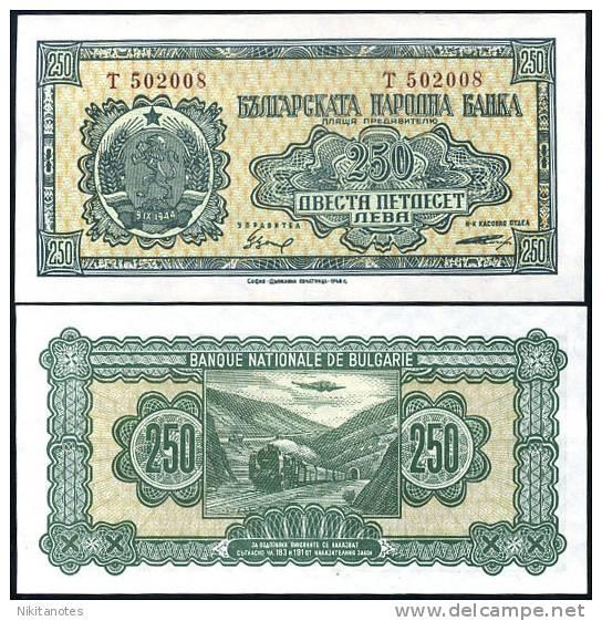 BULGARIA 250 LEVA 1948 P 76 UNC - Bulgarie