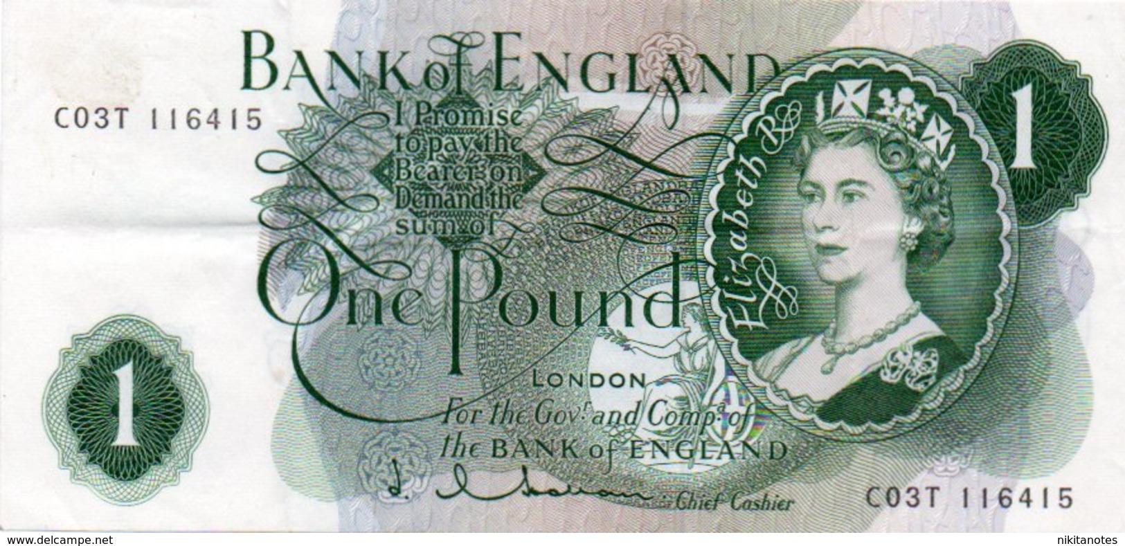 1 Pound Regno Unito England 1962-1966 See Scan - 1952-… : Elizabeth II