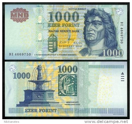 HUNGARY 1000 FORINT 2010 P NEW UNCIRCULATED - Hongrie