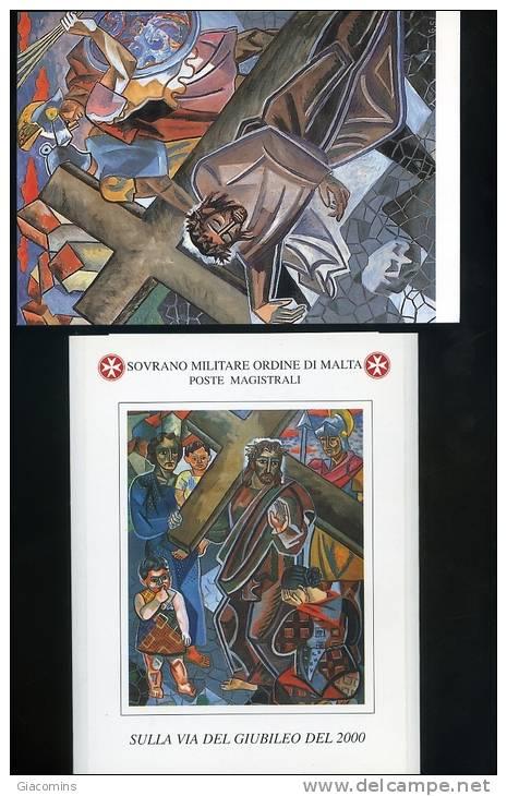 Serie Di  10 Cartoline  Nuove  Numerate- Con  Contenitori  Dello SMOM  Sulla  Via  Del  Giubileo  Del  2000- - Cartoline