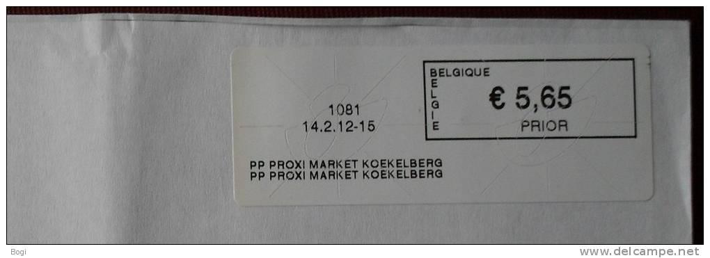 België 2012 PP Proxy Market Koekelberg 1081 - Frankeervignetten