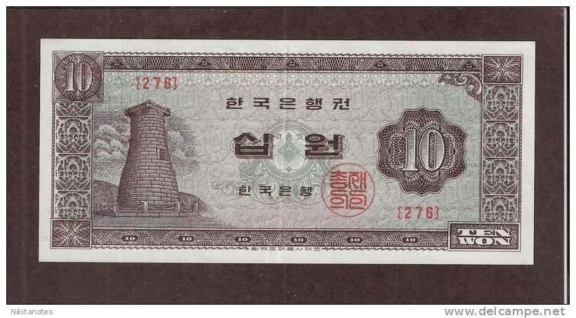 KOREA - SOUTH 10 WON 1965 @ AU  Circulated - Corée Du Sud