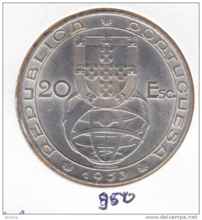 @Y@  Portugal  20 Esc.  1953   (950) - Portugal
