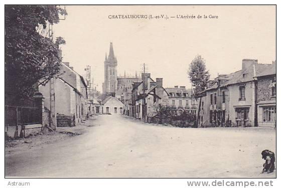 Cpa-35- Chateaubourg --Arrivée De La Gare- - France