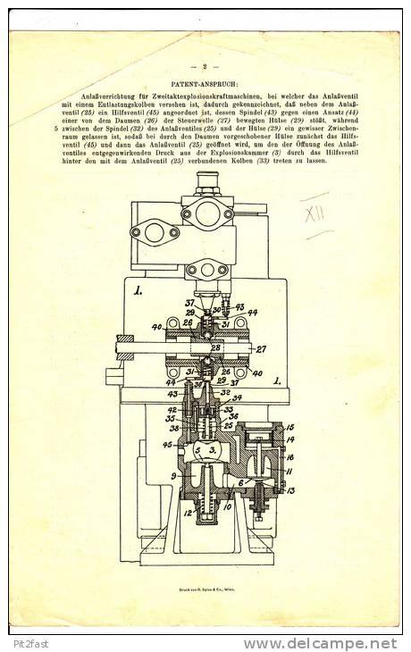Original Patentschrift - The Empire Oil Engine Syndicate In London , 1908 , Anlasser Für Zweitaktmaschinen , 2-stroke !! - Cars