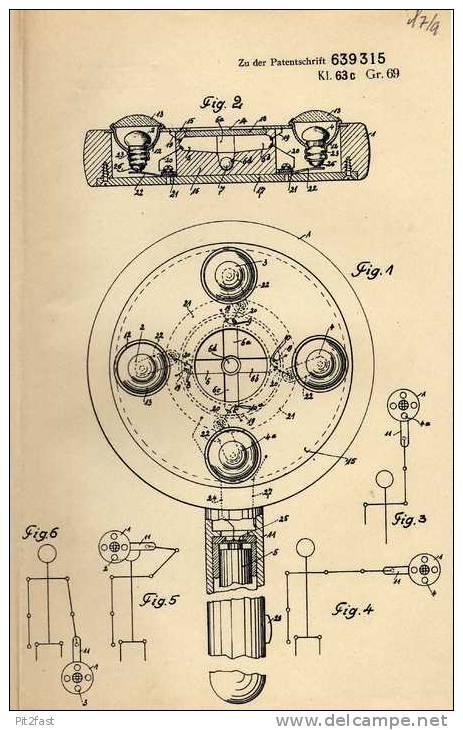 Original Patentschrift - H. Klinkicht In Hamburg , Winker , Fahrtrichtungsanzeiger Beleuchtet , 1935 !!! - Cars