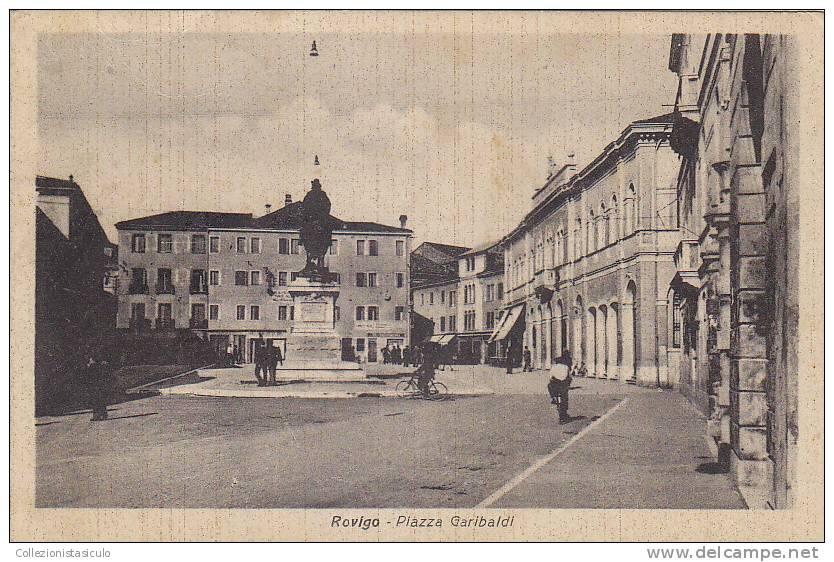 D1044- Rovigo Piazza Garibaldi - F.p. Viaggiata - Rovigo