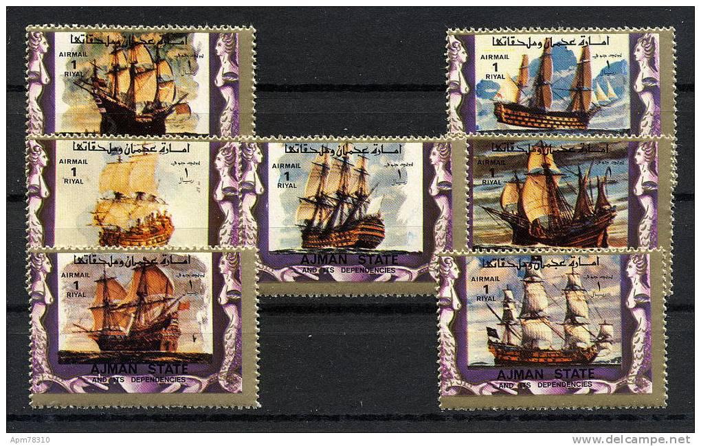 AJMAN   **  Voiliers - Sailing Boats (7 Valeurs) - Ajman