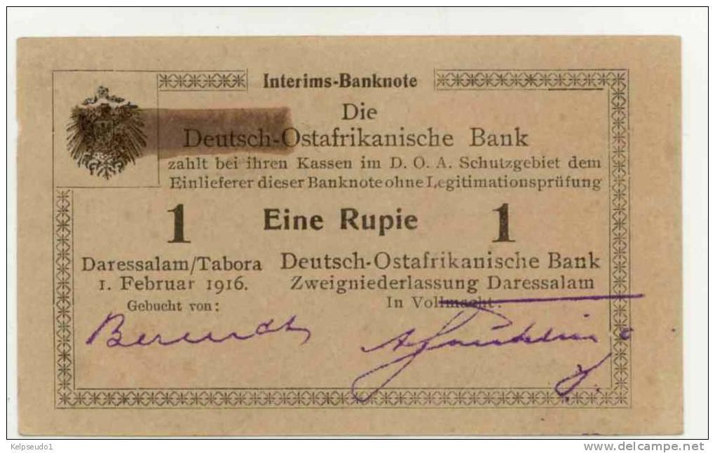 DEUTSH OSTAFRICA : 1 Rupee 1916 (unc) - [12] Colonies & Banques étrangères