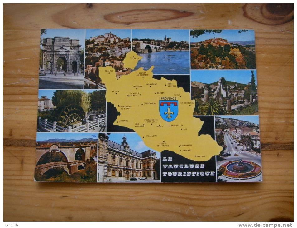 273) Vaucluse :multivues:orange,gordes,avignon,roussillon,isle,vaison,bollene ....+ Carte Et Blason - France