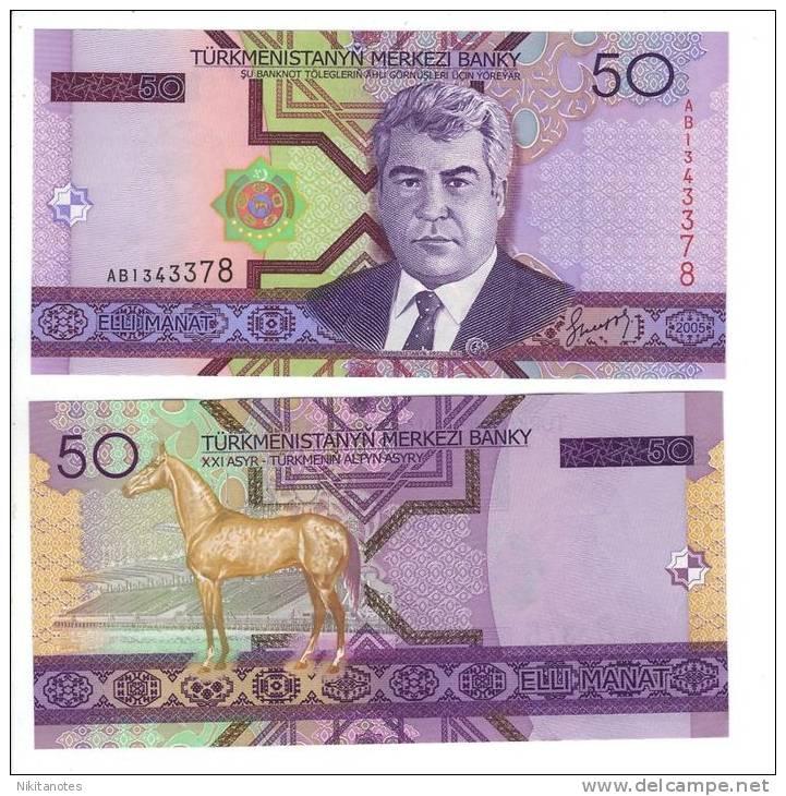 TURKMENISTAN 50 MANAT 2005 UNC P 17 - Turkménistan
