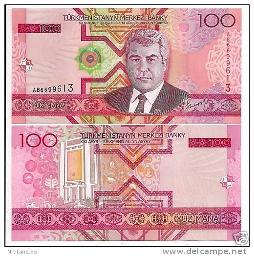 TURKMENISTAN 100 MANAT 2005 UNC P 18 - Turkménistan