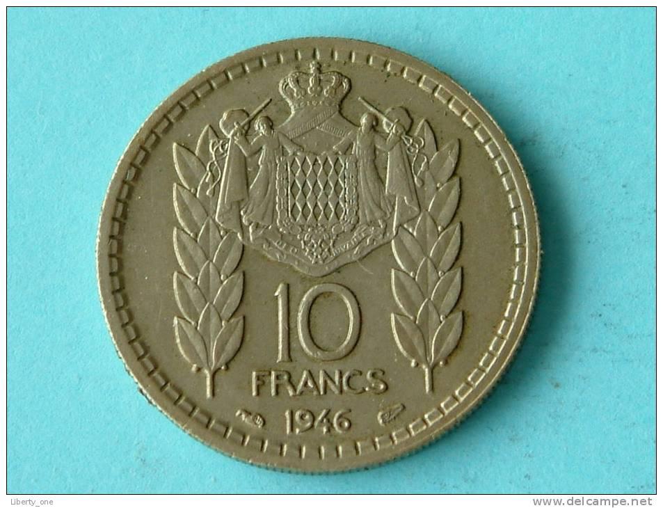 1946 - 10 FRANCS / KM 123 ( For Grade, Please See Photo ) ! - Monaco