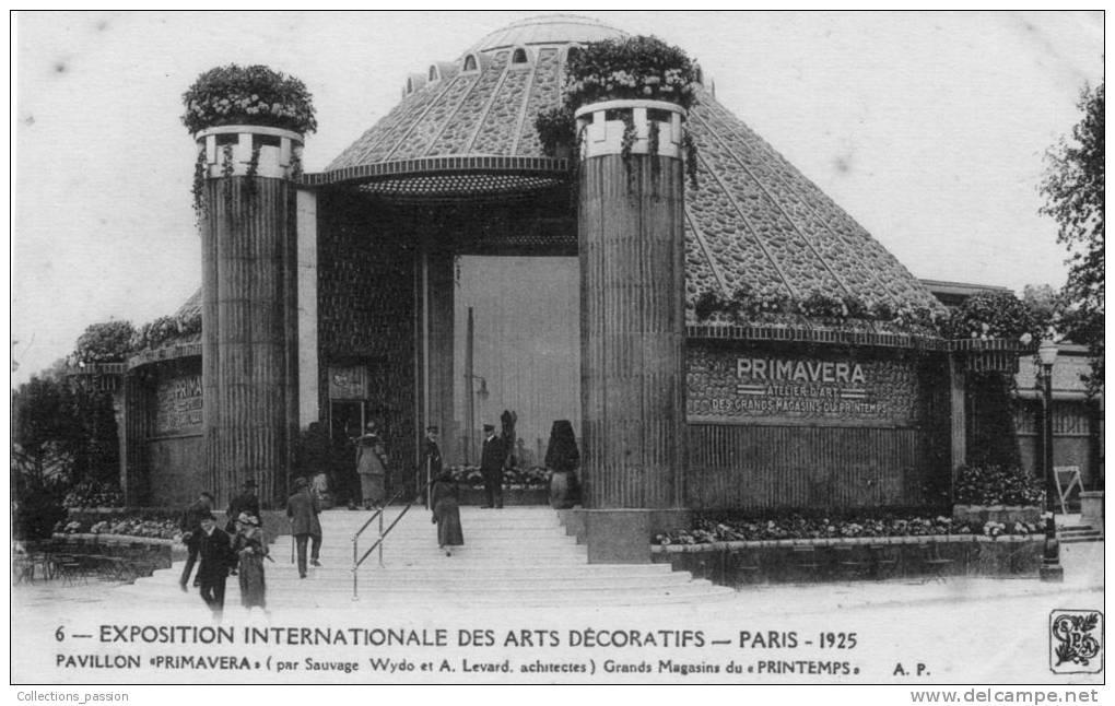 Cp , 75 , PARIS , Exposition Internationale Des Arts Décoratifs , 1925 , Pavillon Primavera , Ed : Papeghin - Exhibitions