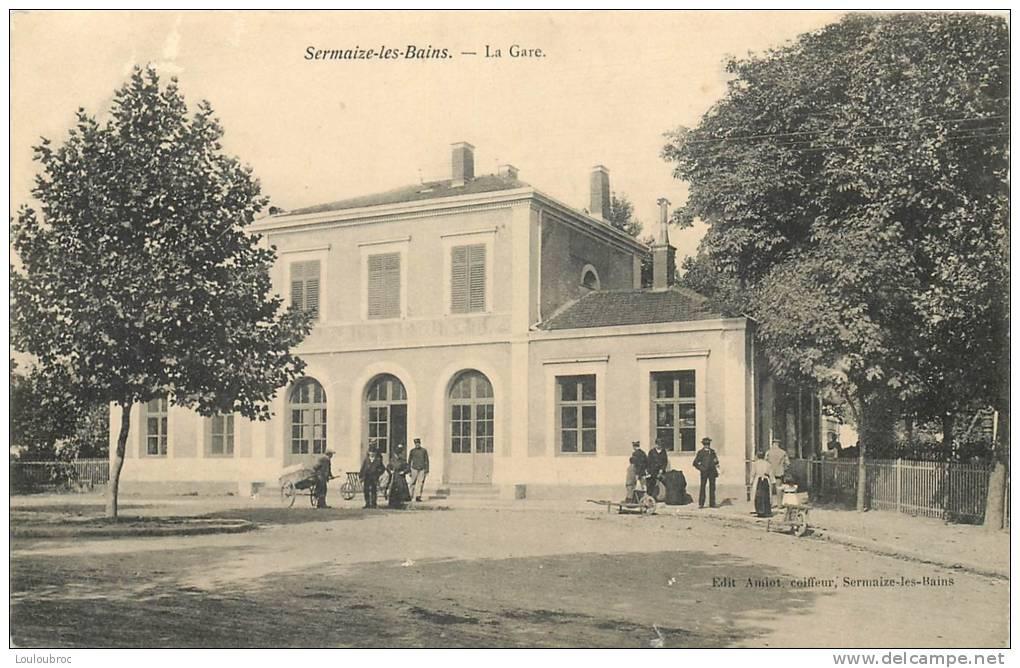 51 SERMAIZE LES BAINS LA GARE EDITION AMIOT - Sermaize-les-Bains