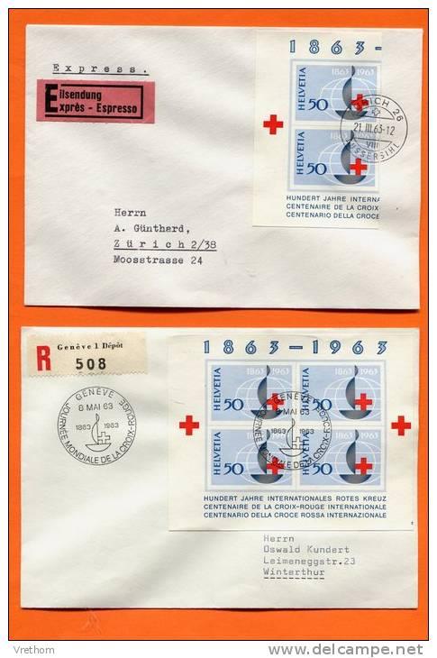 Suisse, Switzerland, Schweiz,1963 Rotes Kreuz, Croix-Rouge - FDC