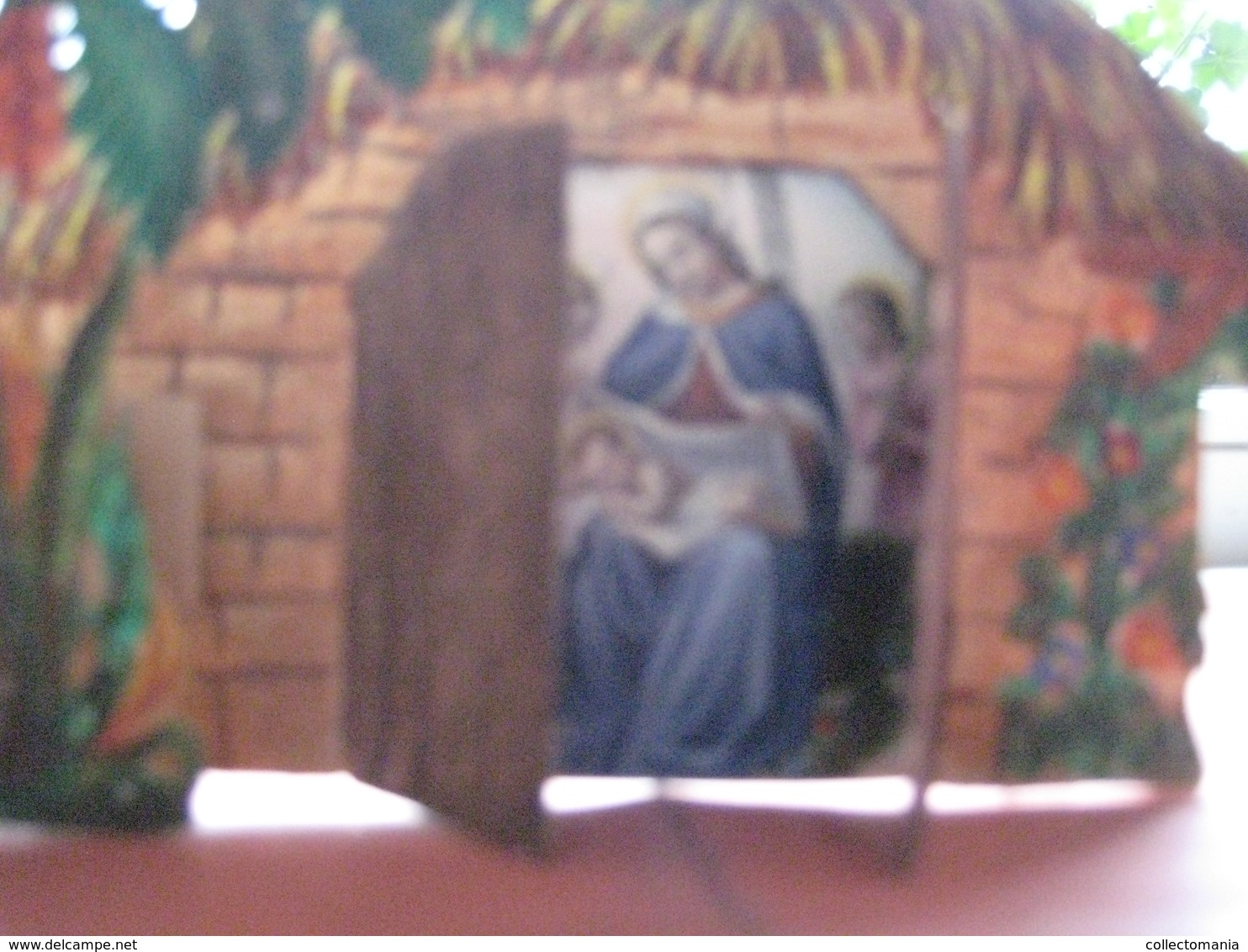 1840 Approx - Bouasse LEBEL - Kerststal Kribbe Stable Christ - Mechanical Opening + Hand Work And Coloring - Devotion Images