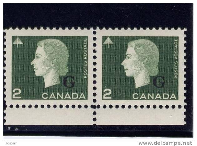 CANADA, 1963, #O47, QE 11, CAMEO PORTRAIT PAIR   MNH - Préoblitérés