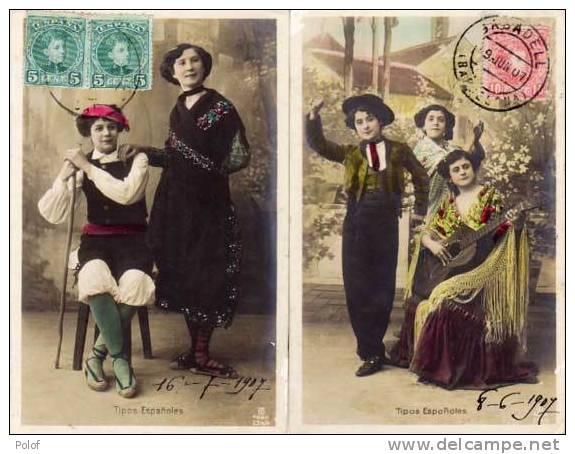 2 CPA - Tipos Espanoles - Fantaisies - Costumes - Guitare... (37279) - Espagne