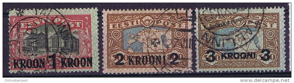 Estland: 1930  Michel Nr 87-89 Used - Estland