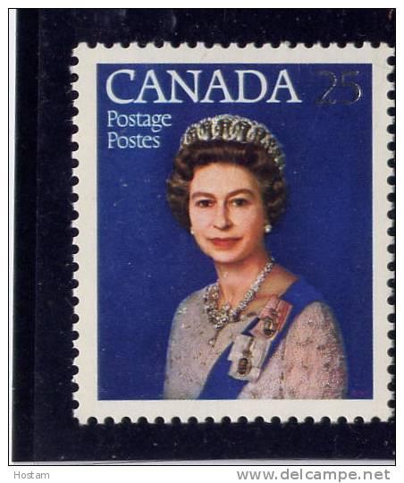 Canada. 1977, # 704,    QE11, Silver Jubilee  Single Mnh - Nicaragua