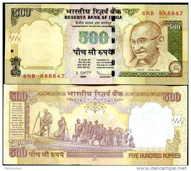 INDIA 500 RUPEES 2011 P NEW UNC - India