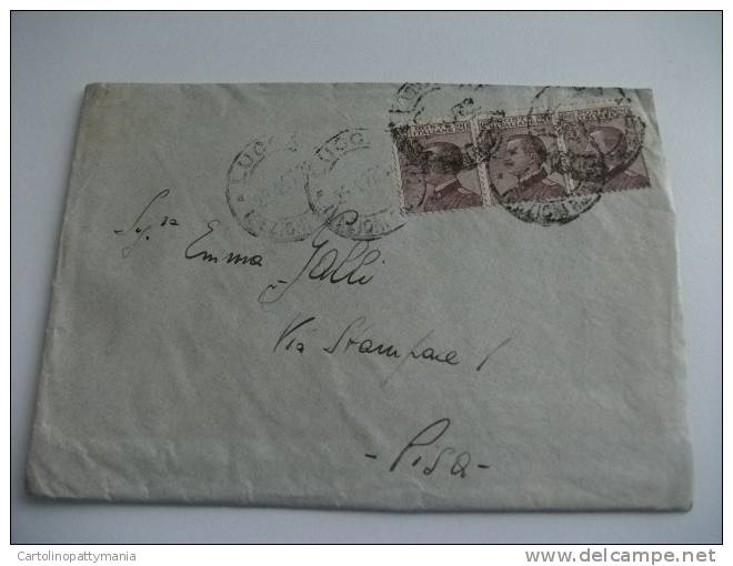 Storia Postale Timbro Lucca - 1900-44 Vittorio Emanuele III