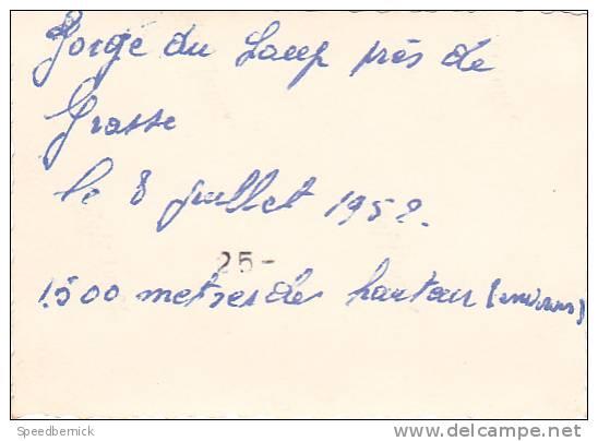 20578 Quatre 4 Photo 8x5.5cm -Gorge Du Loup Près Grasse (France 06) 8 Juillet 1952 -couple Belge - Lieux