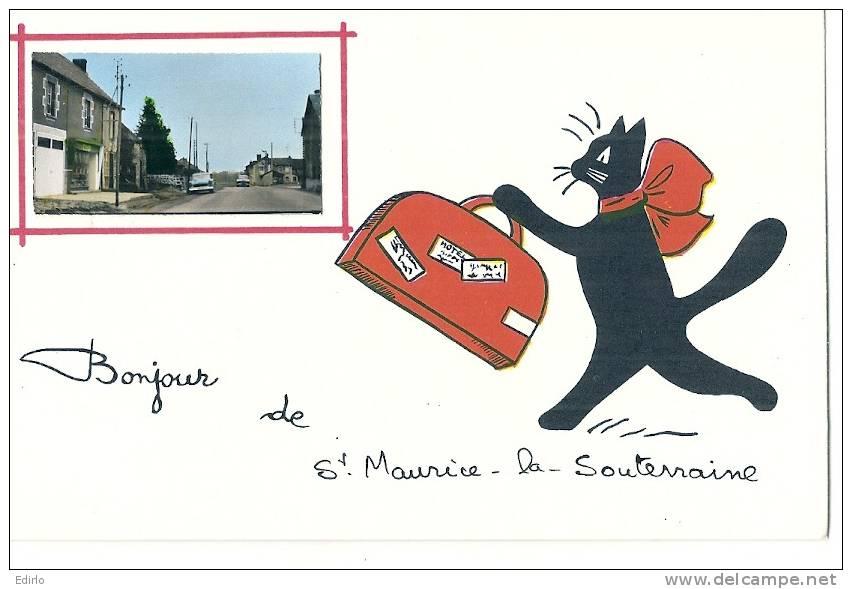 Saint Maurice La Souterraine -Chat RENE - Bonjour De    - Neuve Excellent état - France