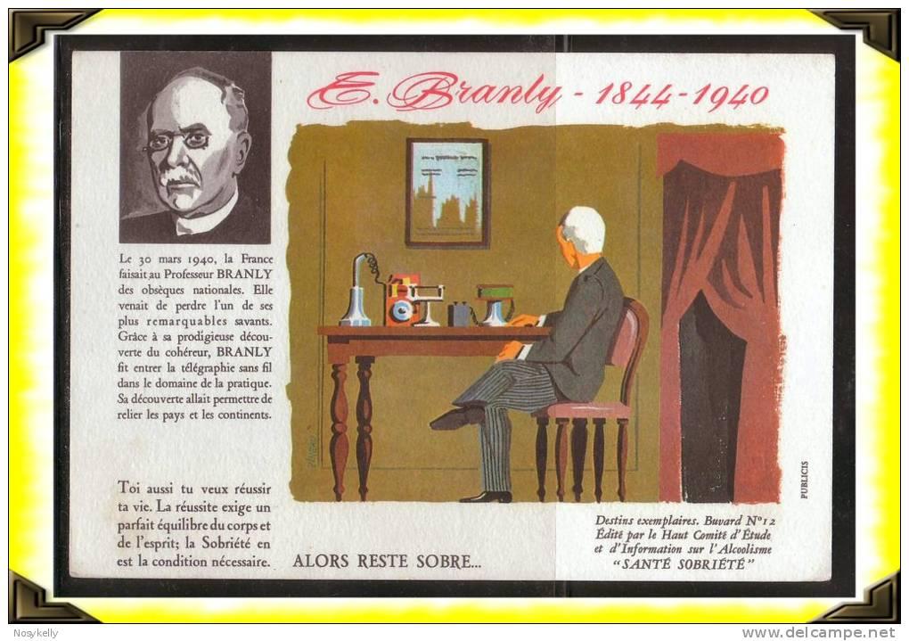 Santé Sobriété -  Buvard -   Alcoolisme  -  E. Branly  -  Illustrateur Pineau - S