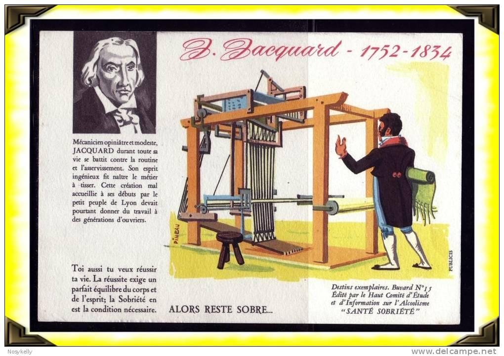Santé Sobriété -  Buvard -   Alcoolisme  -  Jacquard  -  Illustrateur Pineau - Buvards, Protège-cahiers Illustrés