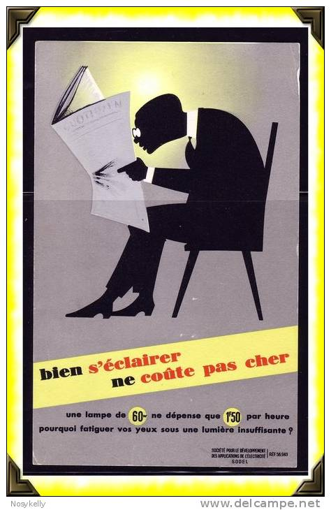 Santé  -  Buvard -   éclairage - Buvards, Protège-cahiers Illustrés