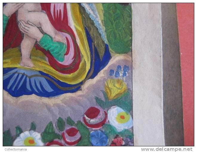 Aiutante MARIA Sigmund Rudi In Prag Druck Verlag - Molto Presto Litho, Mano Colorata Approssimativa 1860 Excellent - Santini