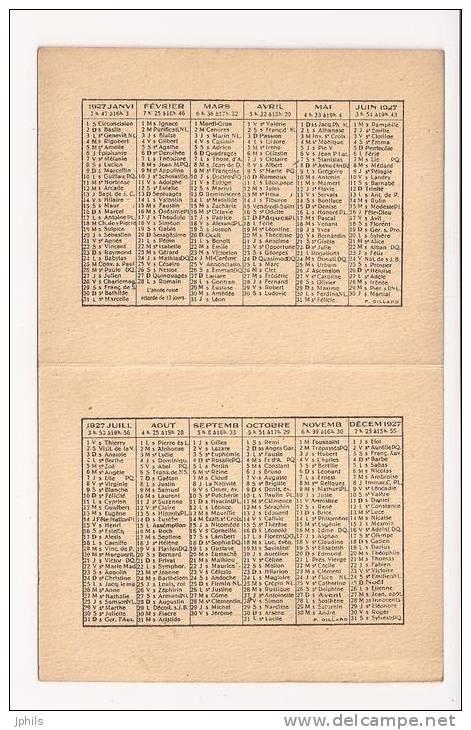 1927  BERGERAC - Kalenders