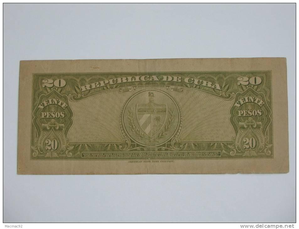 20 Pesos - CUBA - Veinte Pesos 1960 Banci Nacional De Cuba - Cuba