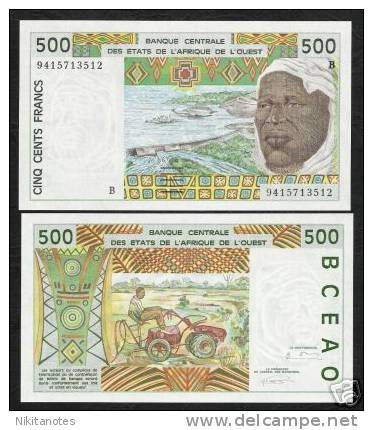 BENIN (WEST AFRICAN STATES) 500 FRANC 2002 P 210B UNC - Bénin