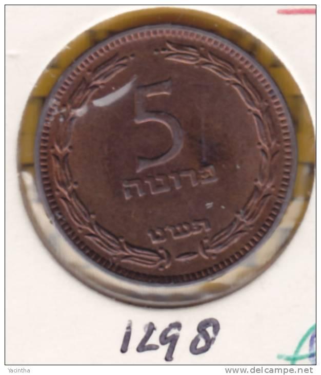 @Y@   Israel  5 Prutah  1949   (1298) - Israel