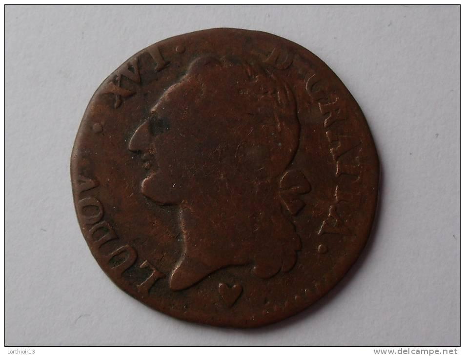 1/2 Sol Louis XVI 1783 R - 987-1789 Monnaies Royales